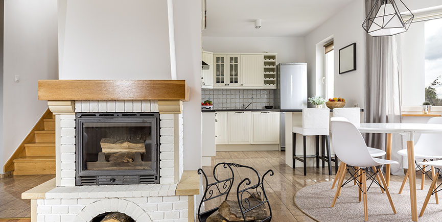 Fireplace in house