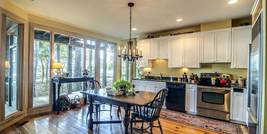 kitchen with view windows
