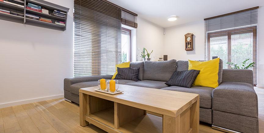 Room with sofa and window