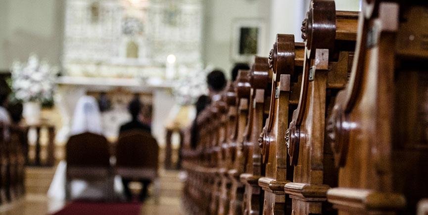Wedding Ceremony inside a Church